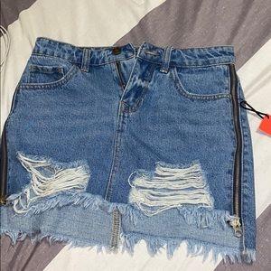 Ripped skirt
